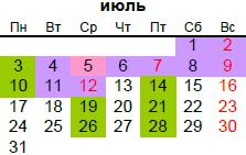 православный календарь на июль 2017