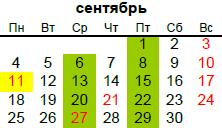 церковный календарь на сентябрь 2017